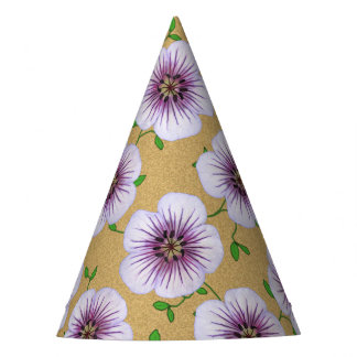 Garden Party Purple Flowers on any Color Party Hat