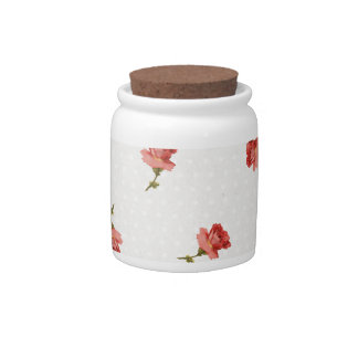 Garden Party Roses Candy Jar