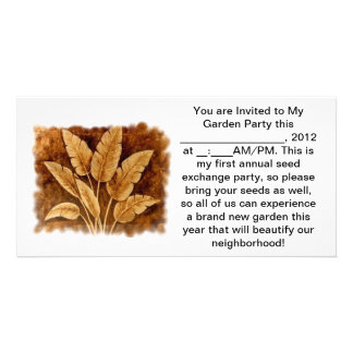 Garden Party Seed Exchange Card