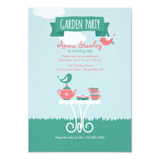Garden Party Setting Invitation
