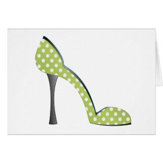 Garden Party Shoe Card