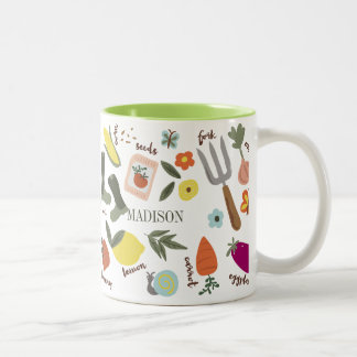 Garden Party Two-Tone Coffee Mug