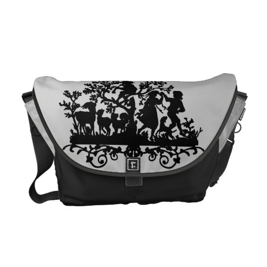 Garden Party With Children Dancing Courier Bag