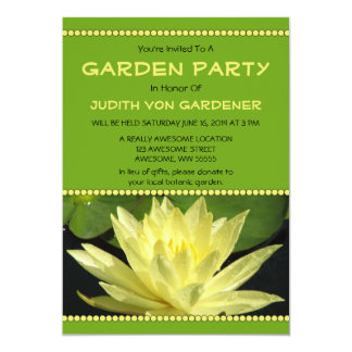 Garden Party Yellow Water Lily Flower Card