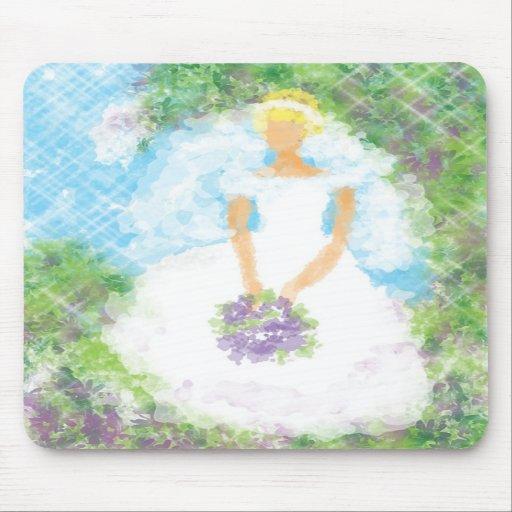 Garden Path  Bride Mousepad