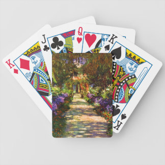 Garden Path by Claude Monet Bicycle Playing Cards