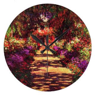 Garden Path by Claude Monet Large Clock