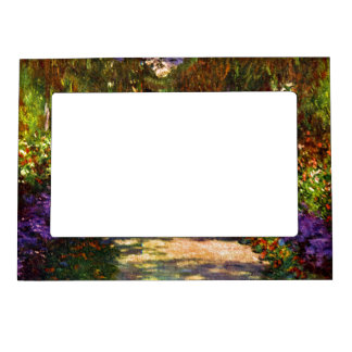 Garden Path by Claude Monet Magnetic Picture Frame