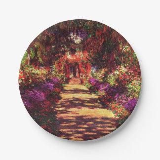 Garden Path by Claude Monet Paper Plate