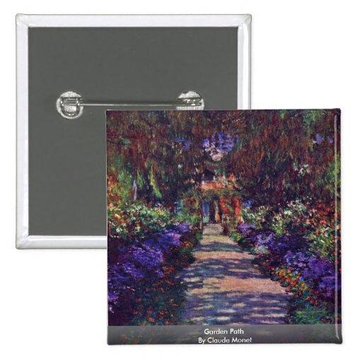 Garden Path By Claude Monet Pin