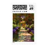 Garden Path by Claude Monet Postage