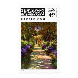 Garden Path by Claude Monet Stamp
