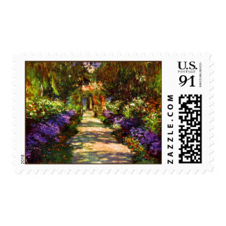 Garden Path by Claude Monet Postage