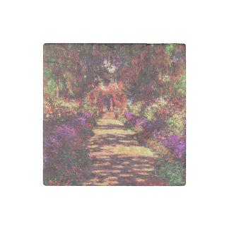 Garden Path by Claude Monet Stone Magnet