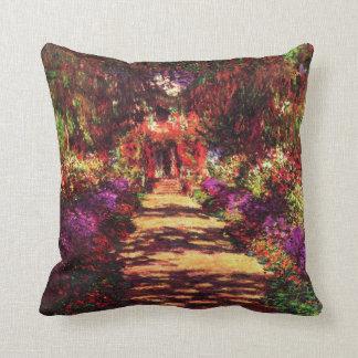 Garden Path by Claude Monet Throw Pillow
