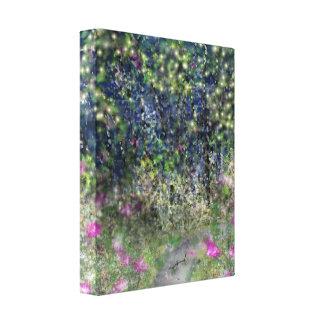 Garden Path Digital Dreamscape Art Canvas Print