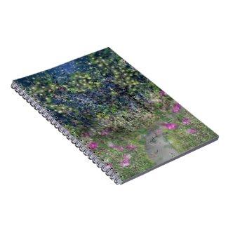Garden Path Digital Dreamscape Art Note Book