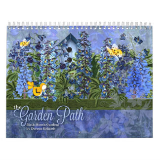 Garden Path Floral Custom Year Calendar