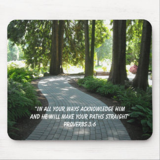 Garden Path Inspirational Scripture Verse Mouse Pad