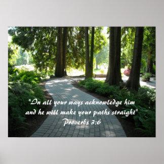Garden Path Scripture Verse Poster