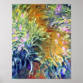 Garden Path Through the Iris by Monet Poster