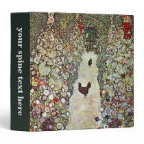 Garden Path w Chickens, Gustav Klimt, Art Nouveau Binder