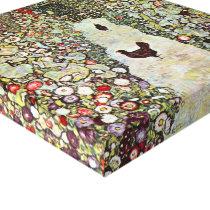 Garden Path w Chickens, Gustav Klimt, Art Nouveau Canvas Print