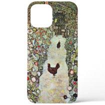Garden Path w Chickens, Gustav Klimt, Art Nouveau iPhone 12 Pro Max Case