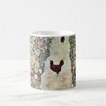 Garden Path w Chickens, Gustav Klimt, Art Nouveau Coffee Mug
