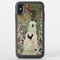 Garden Path w Chickens, Gustav Klimt, Art Nouveau OtterBox Symmetry iPhone XS Max Case