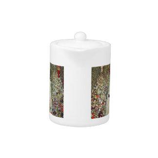 Garden Path w Chickens, Gustav Klimt, Art Nouveau Teapot