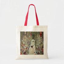 Garden Path w Chickens, Gustav Klimt, Art Nouveau Tote Bag