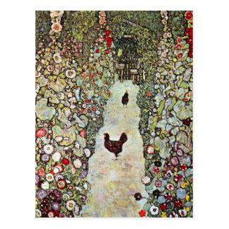 Garden Path with Chickens by Gustav Klimt Postcard