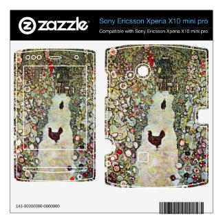 Garden Path with Chickens by Gustav Klimt Xperia X10 Skins