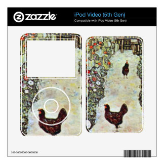 Garden Path with Chickens by Gustav Klimt Decal For iPod Video