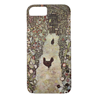 Garden Path with Chickens ~ Gustav Klimt iPhone 8/7 Case