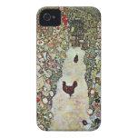 Garden Path with Chickens, Klimt, Art Nouveau iPhone 4 Cases
