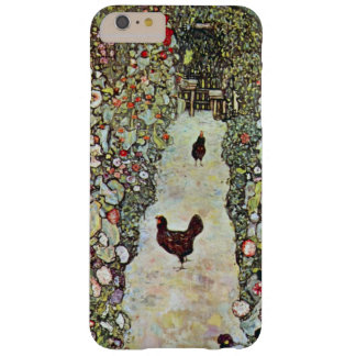 Garden Path with Chickens, Klimt, Art Nouveau Barely There iPhone 6 Plus Case