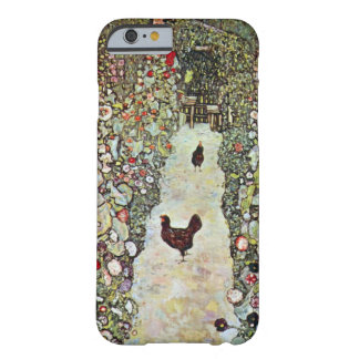 Garden Path with Chickens, Klimt, Art Nouveau iPhone 6 Case