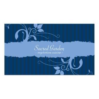 Garden Pattern - Blue Business Card