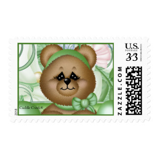 Garden Pea in' a Pod Post Card Stamp