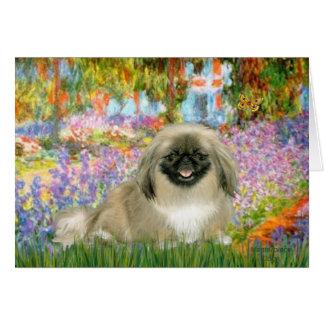 Garden - Pekingese 1b Card