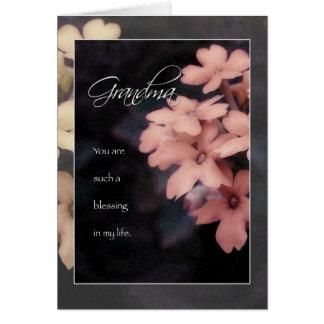 Garden Phlox Flower Birthday Card for Grandma