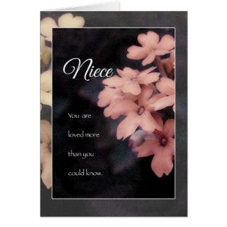 Garden Phlox Flower Birthday Card for Niece