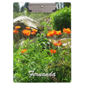 Garden Photo Lush Park Spring Poppies any Text Clipboard