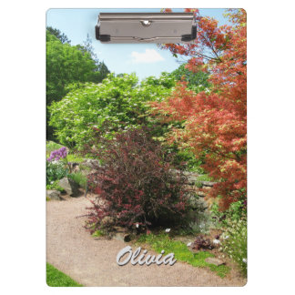 Garden Photo Lush Spring Park Path any Text Clipboard