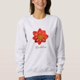 Garden Photo Orange Dahlia Flower Text Sweatshirt