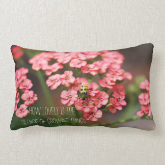 Garden Photography How Lovely is the Silence Quote Lumbar Pillow