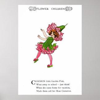 Garden Pink - Rose Carnation Poster