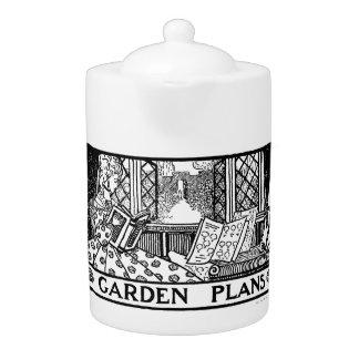 Garden plans teapot - 1919 design by Campion